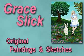 Grace Slick Original Paintings & Sketches